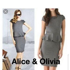 Alice+Olivia Victoria Peplum Dress